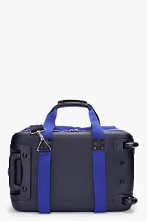 KRISVANASSCHE Small Blue Rolling Suitcase With Laptop Case for men