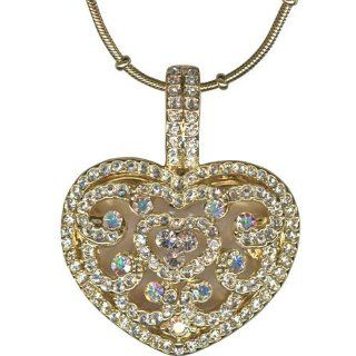 Kirks Folly Always & Forever Heart Locket Necklace