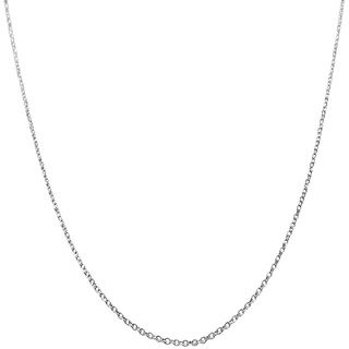 14k White Gold Diamond cut Cable Chain (16   24 inch)