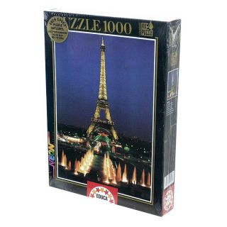 Eiffel Tower, Paris 1000 piece Neon Jigsaw Puzzle