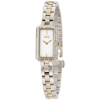 Citizen Womens Two tone Gold Eco Drive Crystal Watch