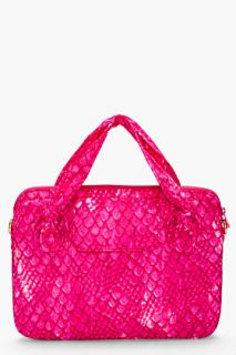 Marc By Marc Jacobs Pink Scale Print Laptop Case for women