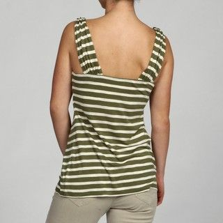 Cable & Gauge Womens Striped Tank Top