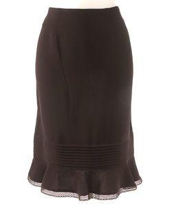 Albert Nipon Petite Black Skirt Suit