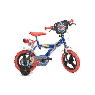 Coloris  bleu, rouge et noir. Réf  123GL2. Vélo Enfant 12  roues