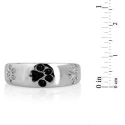 ASPCA ender Voices Silver 1/10c DW Diamond Paw Ring (I J, I2 I3