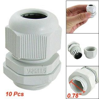 Amico 10 Pcs White Plastic Waterproof Cable Glands M20 x 1.5