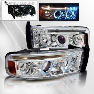 Dodge Ram 94 95 96 97 98 99 00 01 Projector Headlights /w Halo/Angel