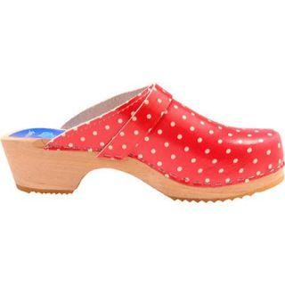 Womens Cape Clogs Rassatazz Red/White Polka Dots