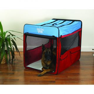 Red/ Blue Extra large Collapsible Dog Crate Today $116.99