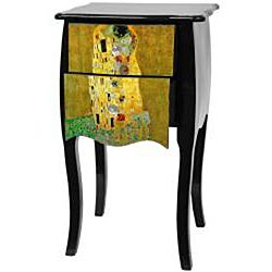 Klimt The Kiss Two Drawer Cabinet (China)