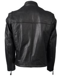 Leather Mens Black Motorcycle Racing Jacket