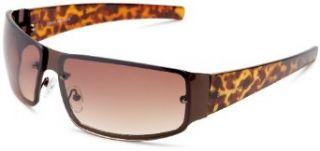 Steve Madden Mens S083 Rectangular Sunglasses,Brown Frame