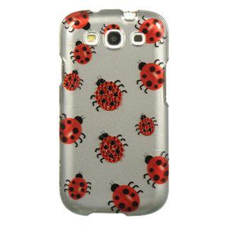 Premium Samsung Galaxy S3 Lady Bugs Rhinestone Case