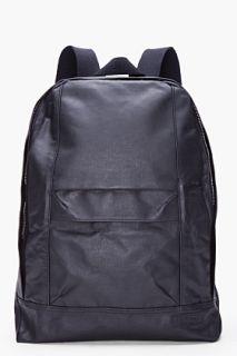 Rag & Bone Black Leather Trim Classic Backpack for men