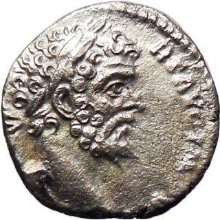 Septimius Severus 195AD Silver Ancient Roman Coin Victory