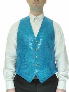SixStarUniforms Mens Sequin Vest Turquoise XXXXX Large