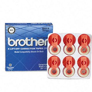 Brother Lift off Correction Tape (Pack of 6)