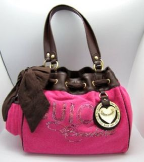 Juicy Couture Rhinestone Heart Charm Daydreamer Bag Tote