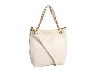 Michael Kors Jet Set Medium Chain Shoulder Tote Handbags   Bone Shoes