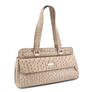 Miadora Inna Brown Ostrich embossed Satchel
