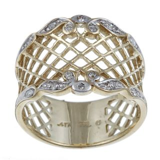 Isabella Collection 10k Gold Diamond Accent Lattice Design Ring