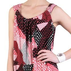 Sangria Womens Sleeveless Stretchy Knit Scoop Neck Dress