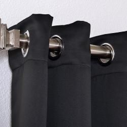 Jet Black Thermal Blackout 96 inch Curtain Panel Pair