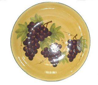 Tuscany Grape Large Pasta Bowl Serving Wine Tuscan