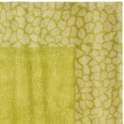 Handmade Soho Green New Zealand Wool Rug (6 Square)