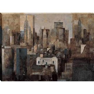 Marti Bofarull Manhattan and Black Structures Canvas Art
