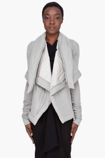 Rick Owens Lilies Taupe Angora Wool Jacket for women