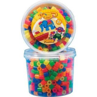 Pot de 600 perles   Hama Maxi  Perles Mix 6 couleurs   Pot de 600