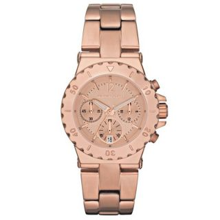 Michael Kors Womens Rose tone Stainless Steel Chronograph Watch Today