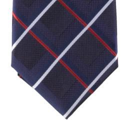 Boston Traveler Mens Multi color Window Pane Print Tie and Hanky Set