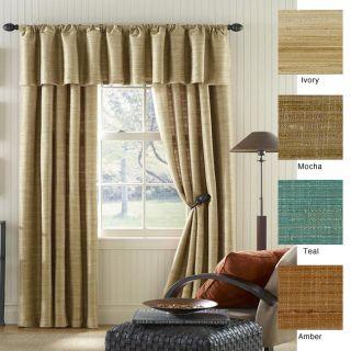 Shantung Faux Silk 120 inch Curtain Panel Pair