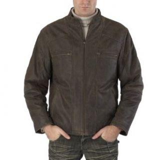 Cruzer Mens Distressed Cowhide Leather Motorcycle Jacket