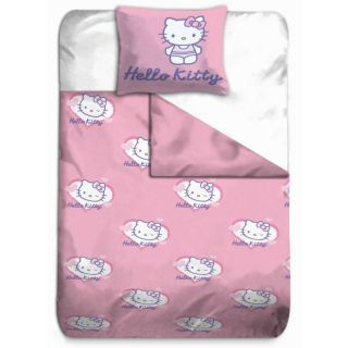 HELLO KITTY Housse Couette + Taie COEUR BLANC   Achat / Vente HOUSSE