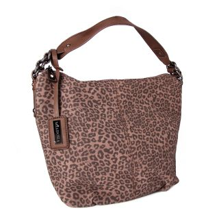Miadora Brown Tara Leopard Print Hobo Bag MSRP $159.84 Today $64