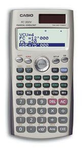 Casio FC 200V Financial Calculator with 4 Line Display