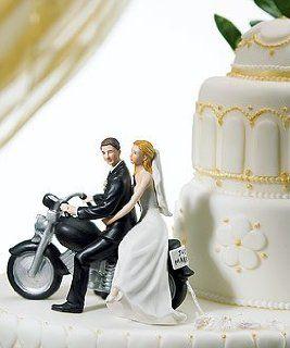Motorcycle Wedding Cake Topper   Motorcycle Get away