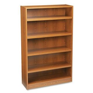 HON Heavy duty Signature Series 5 shelf Oak Bookcase