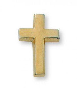 Gold Cross Lapel Pin Patron Saint Medal Catholic Relic