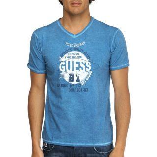 GUESS T Shirt Homme Bleu   Achat / Vente T SHIRT GUESS T Shirt Homme
