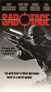Sabotage [VHS] Mark Dacascos, Carrie Anne Moss, Tony Todd