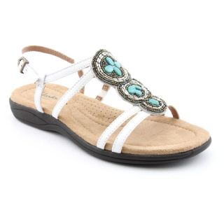 Clarks Artisan Womens Poster Tulip Leather Sandals
