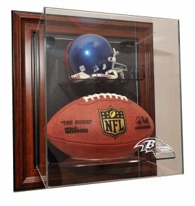 Baltimore Ravens Mini Helmet and Football Case Up