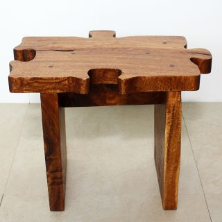 carved Wooden Puzzle Piece Stool (Thailand) Today $134.99