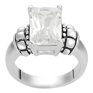 Journee Collection Silvertone Basket set Emerald cut CZ Ring Today $