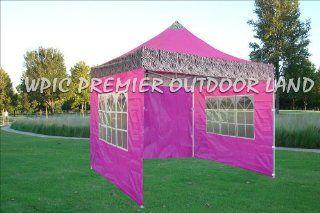 10x10 Pop up 4 Wall Canopy Party Tent Gazebo Ez Pink Zebra